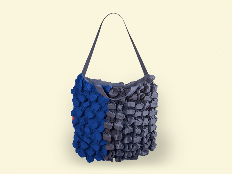 BurBur Tote Bag Concrete/Cornflower