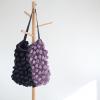 BurBur Tote Bag Coal/Lavender