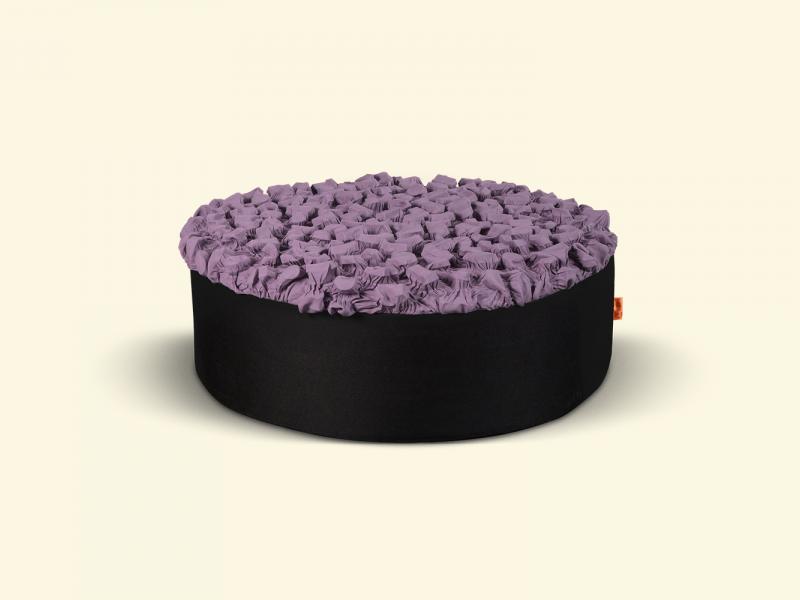BurBur Round Pouf Lavender Ø70cm x 25cm