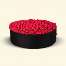 BurBur Round Pouf Urban Red Ø70cm x 25cm