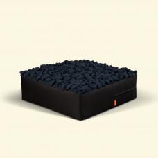 BurBur Square Pouf Coal 70cm x 70cm x 25cm
