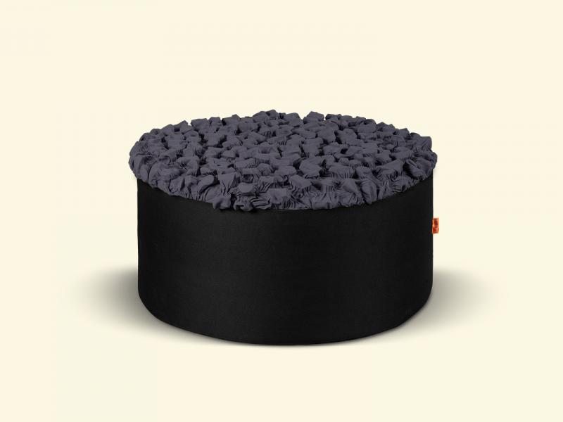 BurBur Round Pouf Concrete 40 cm