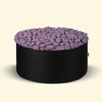 BurBur Round Pouf Lavender 40 cm