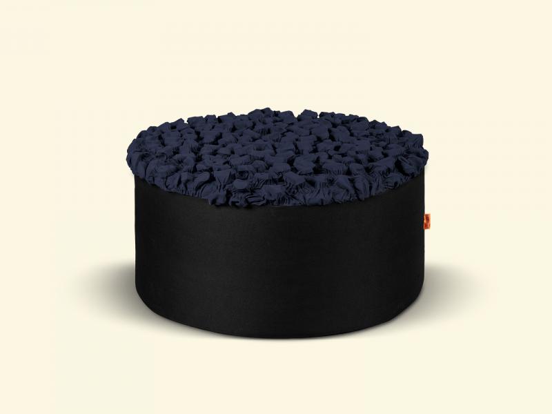 BurBur Round Pouf Coal Ø70cm x 40cm