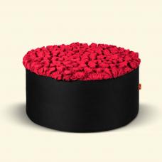 BurBur Round Pouf Urban Red 40 cm