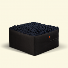 BurBur Square Pouf Coal 70cm x 70cm x 40cm