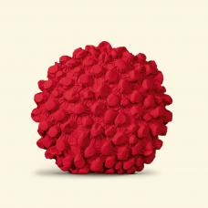 BurBur Round Cushion Urban Red Ø 45 cm