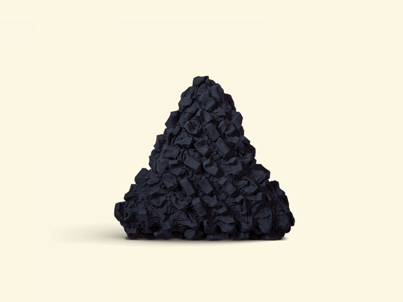 BurBur Triangle Cushion Coal 45 cm