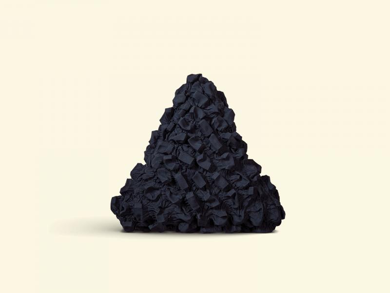 BurBur Triangle Cushion Coal 45 cm