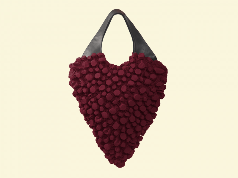 BurBur Oversized Rhombus Bag [Royal Red]