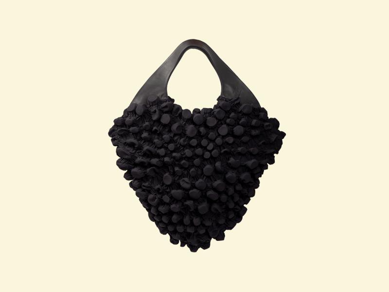 BurBur M size Rhombus Bag [Black Sand Beach]