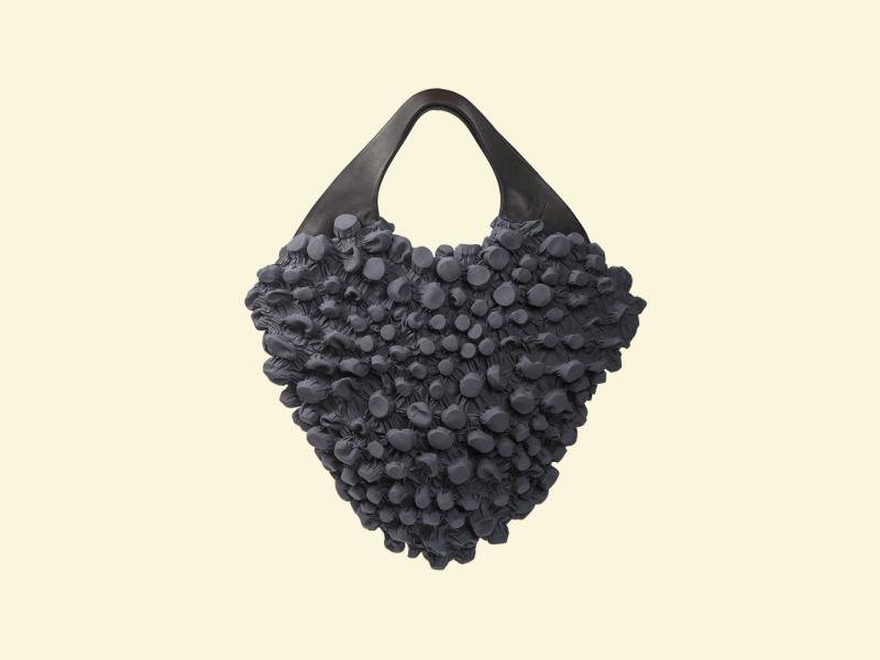BurBur M size Rhombus Bag [Concrete]