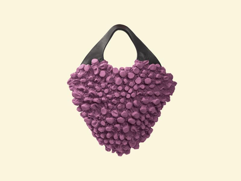 BurBur M size Rhombus Bag [Fuchsia]