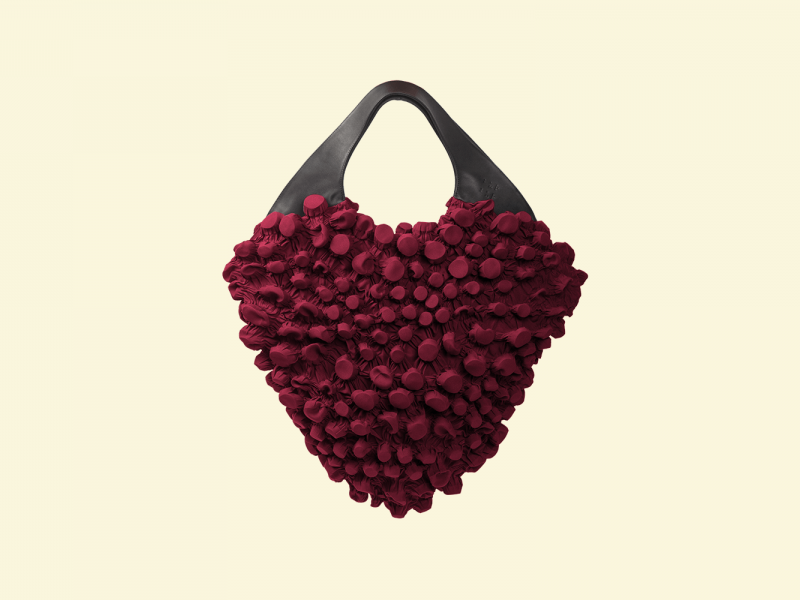 BurBur M size Rhombus Bag [Royal Red]