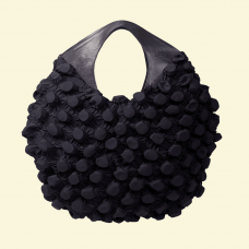 BurBur Round Bag [Black Sand Beach]