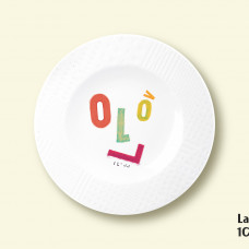 "Porcelain plate - ""LV100"" Ø21 with pattern side"