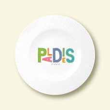 "Porcelain plate - ""PALDIES"" Ø21 with pattern side"