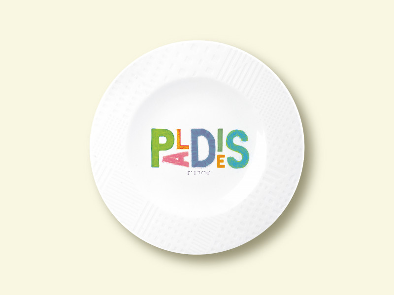 "Porcelain plate - ""PALDIES"" Ø21 with pattern side"