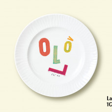 "Porcelain plate - ""LV100"" Ø24 with radial side"