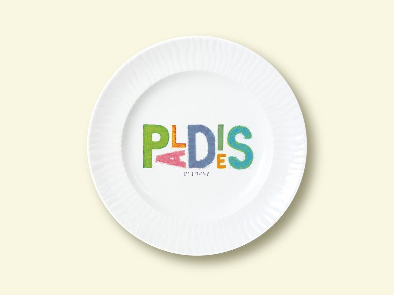 "Porcelain plate - ""PALDIES"" Ø24 with radial side"