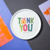 "Porcelain plate - ""THANK YOU"" Ø32 pica plate"