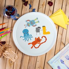 "Porcelain pica plate - ""Sock thief toys"" Ø32"