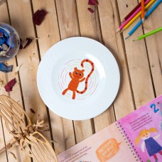 "Porcelain plate - ""9 stripe Tiger"" Ø21 with pattern side"