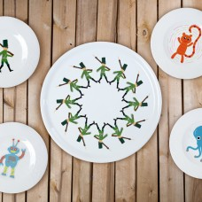 """Porcelain set 4+1 pica plate - """"Tin Soldiers"""""""